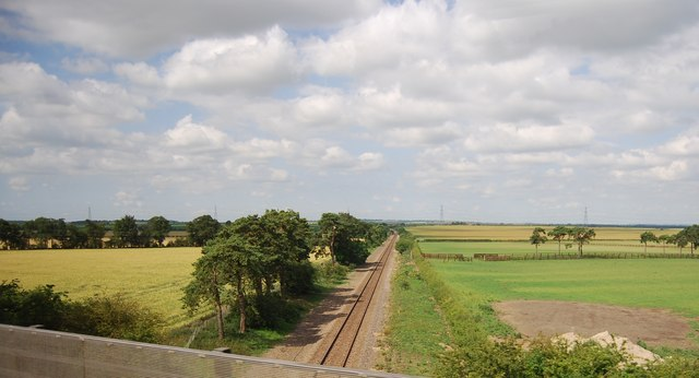 Railway line under the A11
