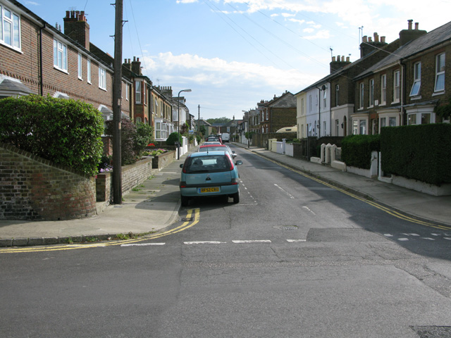 Looking S along St Andrew's Road