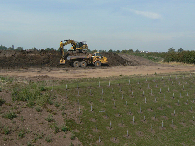 Landscape restoration on the new A46