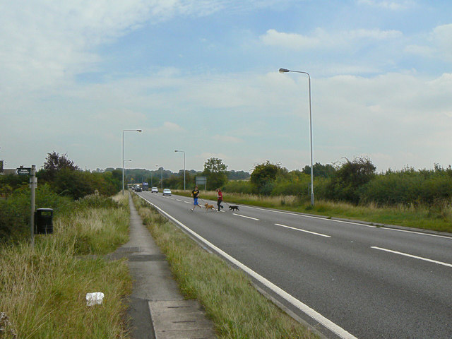Footpath crossing the A52