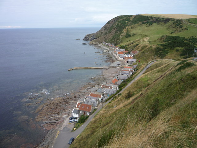 The village of Crovie, Banffshire (pronounced 'Crivvy')