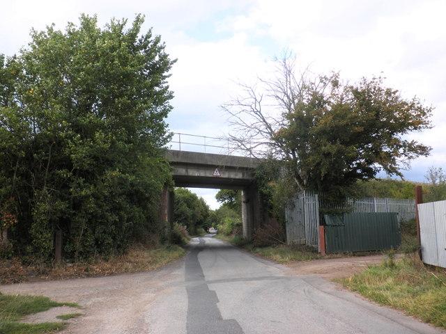 Railway overbridge, Lower Bullingham