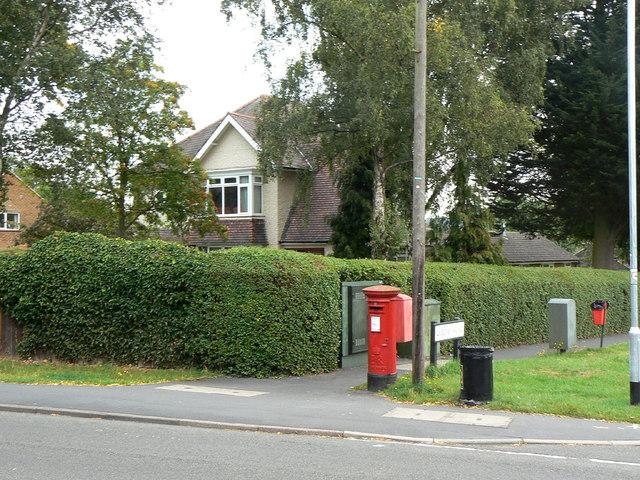 Shelford Road postbox ref NG12 18