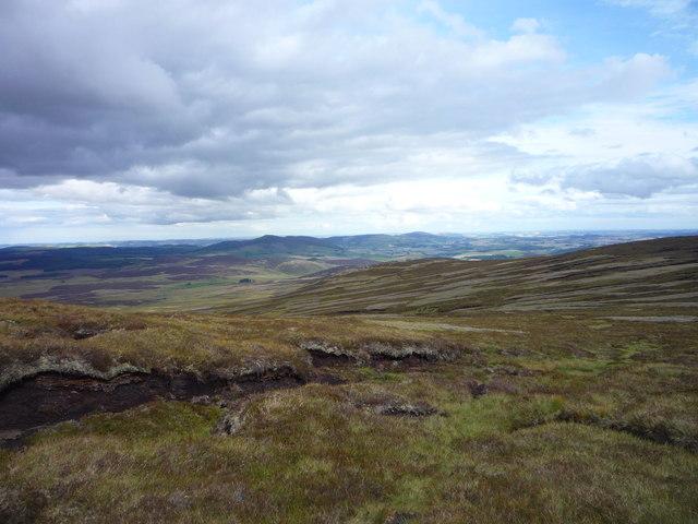 Peat hags on the Buck o' the Cabrach
