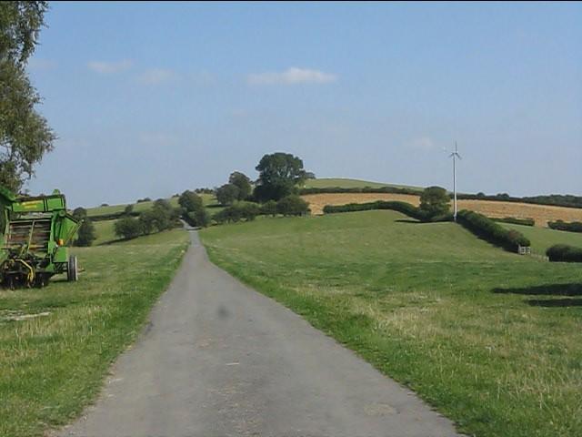 Unfenced lane at Rowley Farm