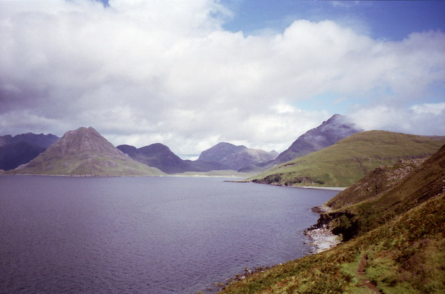 The Elgol track on the slopes of Ben Cleat