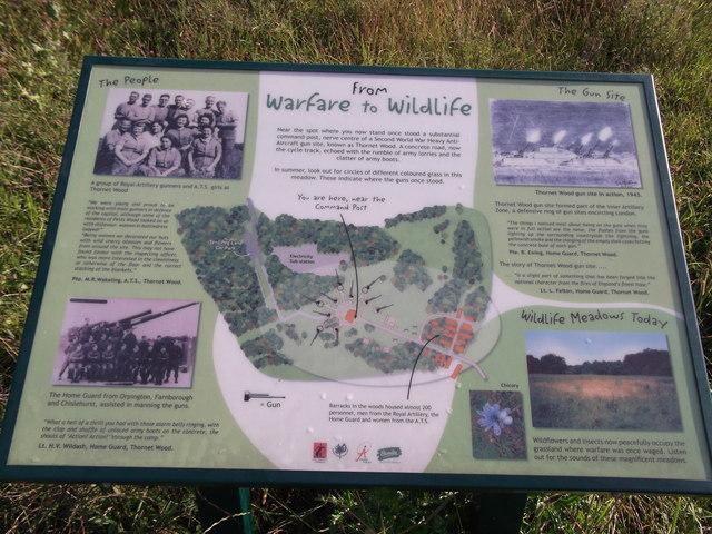 From Warfare to Wildlife Information Board
