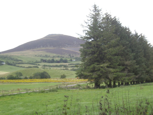 View to Tap O'Noth from Essie walled cemetery