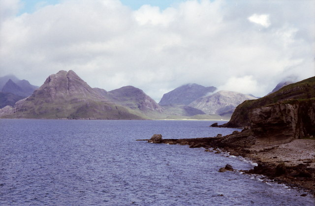 Looking from the shoreline at Elgol