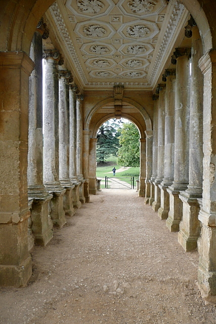 Stowe Park, the Palladian Bridge