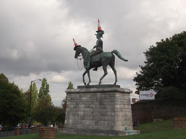 Pranked Lord Kitchener Statue