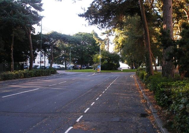 Meyrick Road looking towards the sea