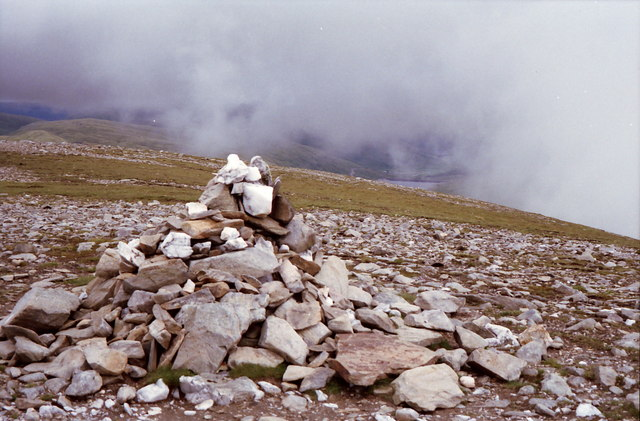 Summit cairn on Beinn Mhanach