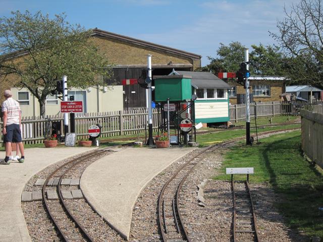 Train station at Brogdale Farm
