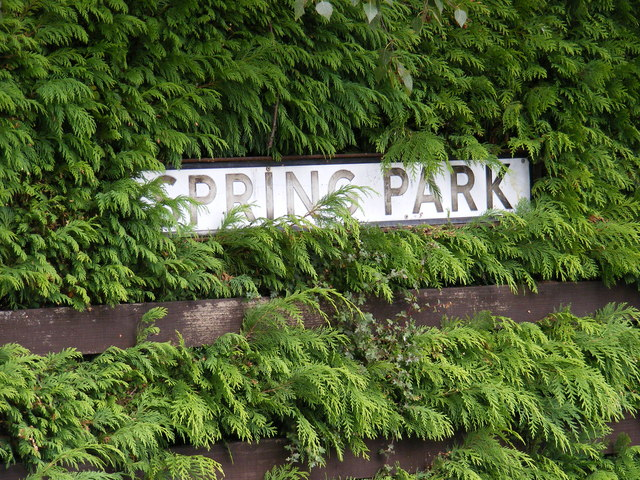 Spring Park sign