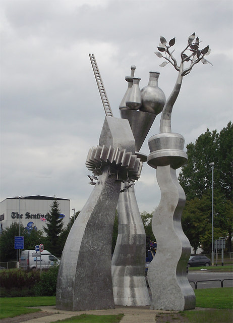 Steel Sculpture At Etruria 169 Roger Kidd Geograph