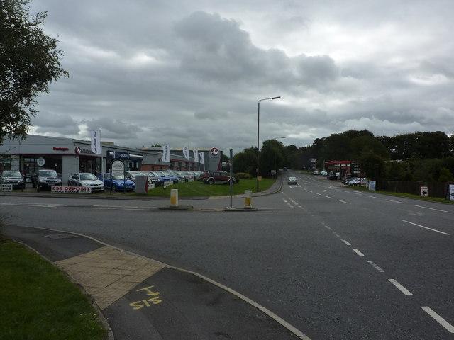 Car show-room, and petrol station, Derby Road, Ashbourne