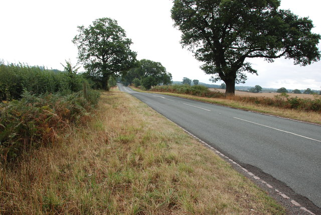View down the B5314