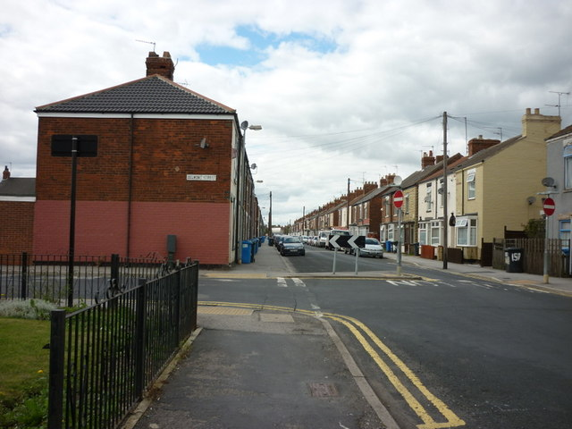 Estcourt Street at the junction with Belmont Street, Hull