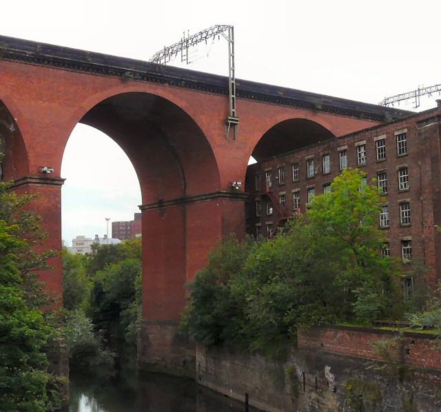 Stockport Plaza through the viaduct
