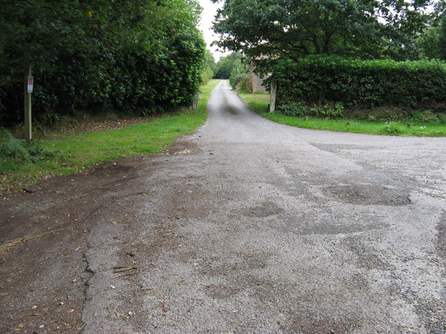 Driveway to Fitzhall off Elsted Road
