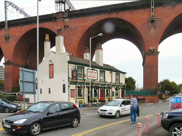 The Crown under the viaduct