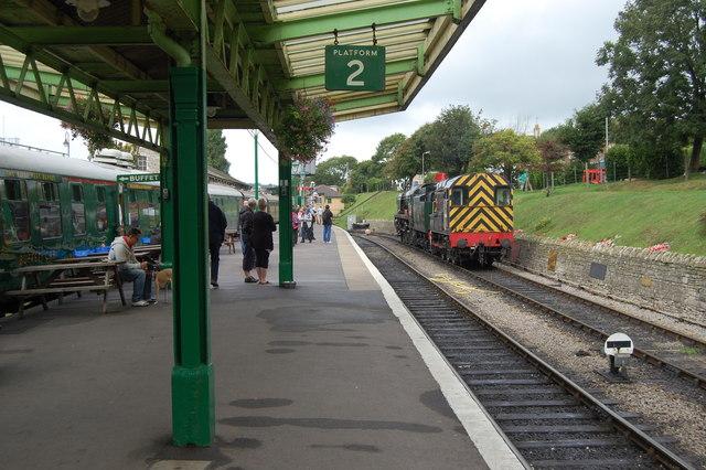 Swanage Station, platform 2
