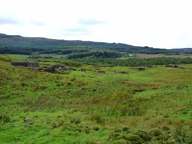 Ruined village at Torr Aint