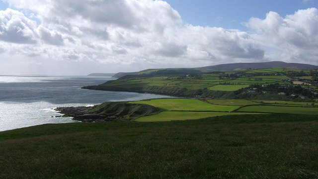 Panoramic view of East Coast from below Maughold Head