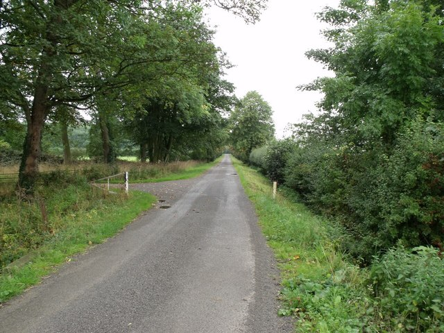 Lane near Toft Grange