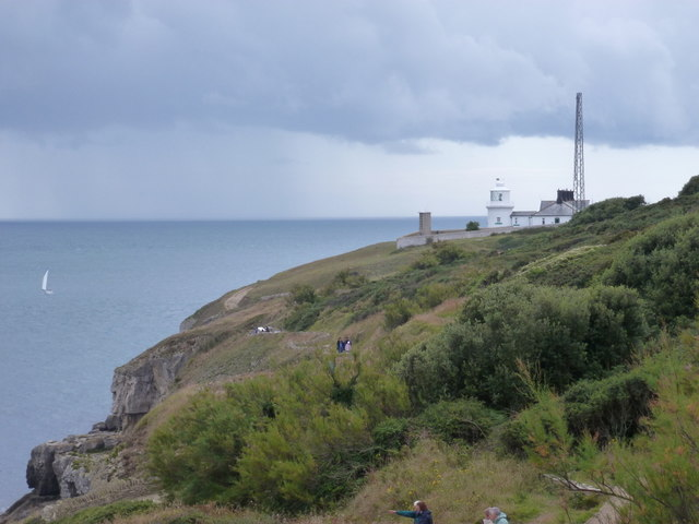 Swanage: showers off Anvil Point