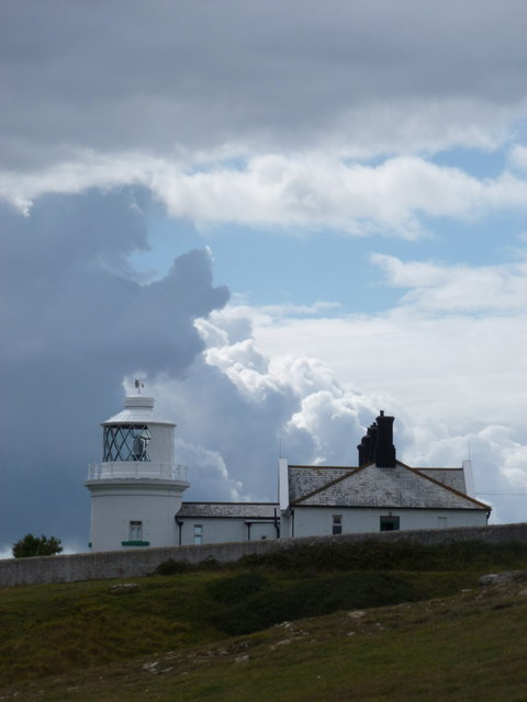 Swanage: a bit of blue sky over Anvil Point lighthouse