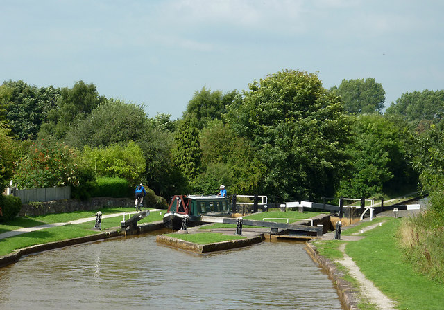 Paired locks No 52 near Lawton-gate, Cheshire