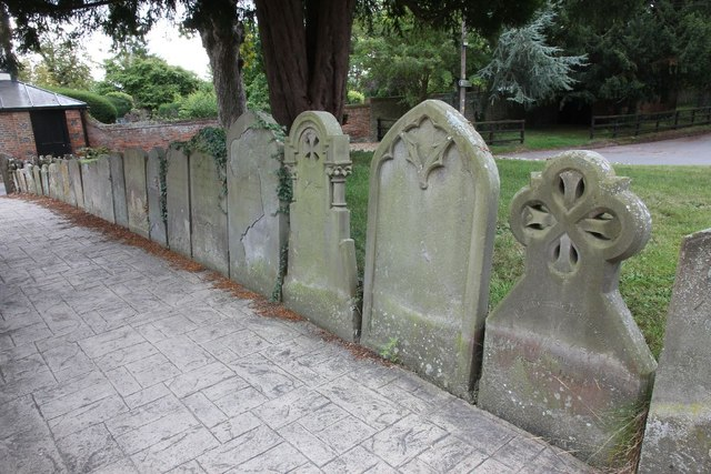 A few of the headstones
