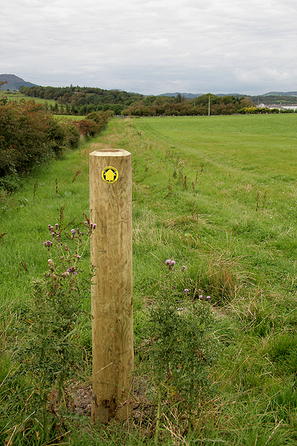 A walking route at Balcary