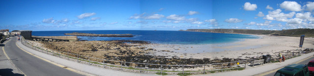 A panorama of Whitesand Bay