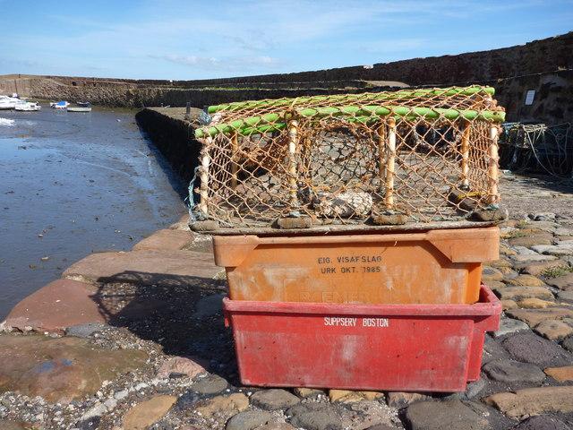 Coastal East Lothian : Orange Urk at Cromwell Harbour, Dunbar