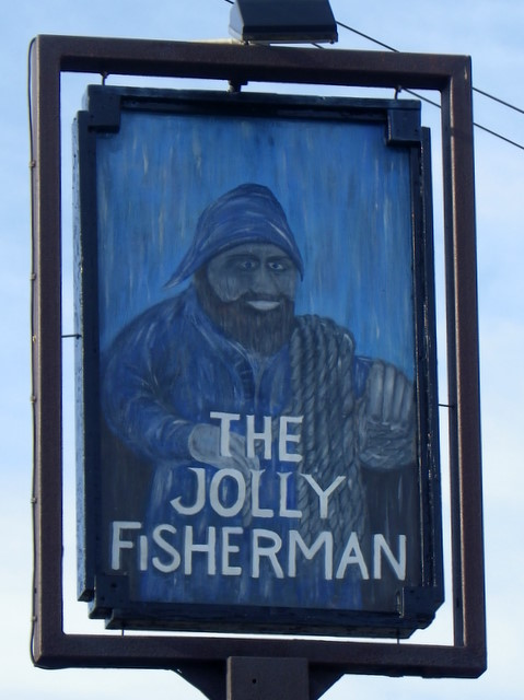 Sign for the Jolly Fisherman