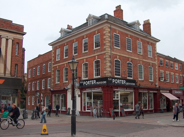 Porters' shop - corner of Newark market square