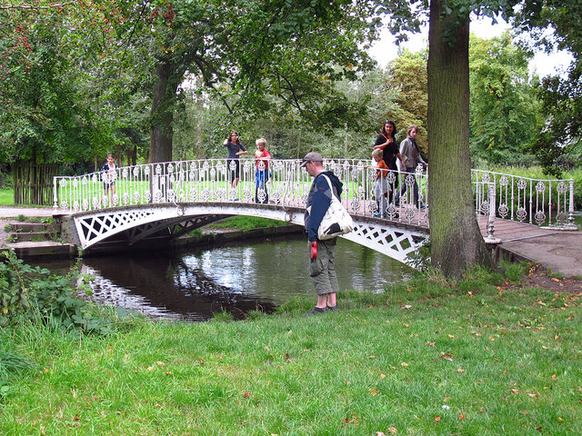 Ornamental bridge in Morden Hall Park