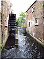 TQ2668 : Restored waterwheel in Morden Hall Park by Stephen Craven