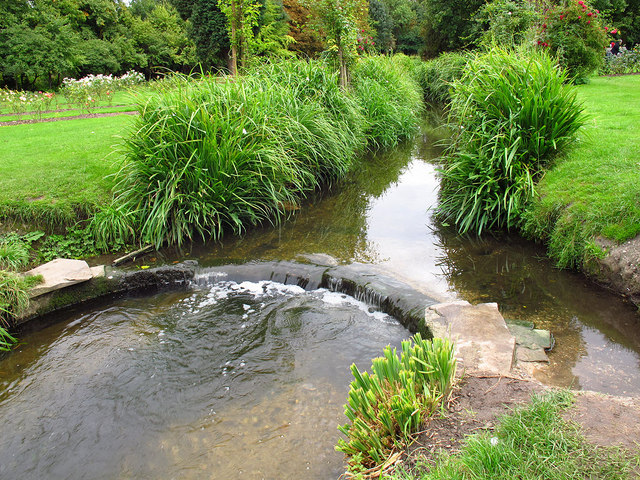 Small weir in Morden Hall Park