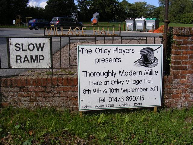 Otley Village Hall sign