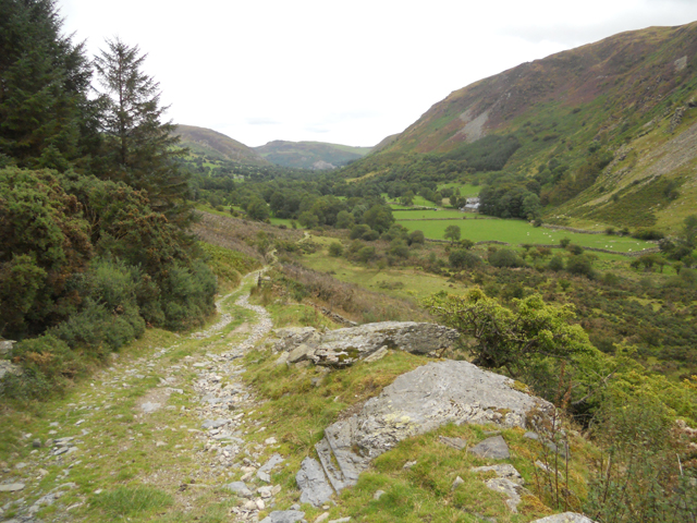 Old track down the valley