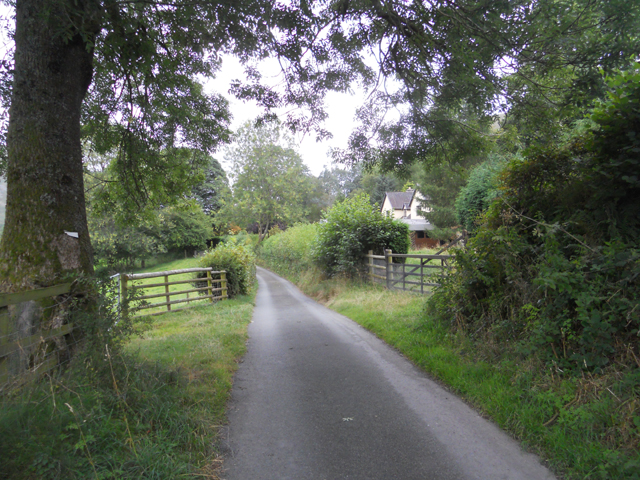 Lane near Afon Eirth