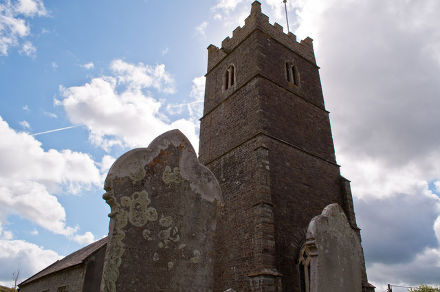 A view of the church at Westleigh