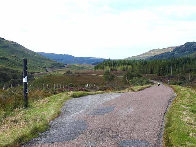 Road down Glen Bellart