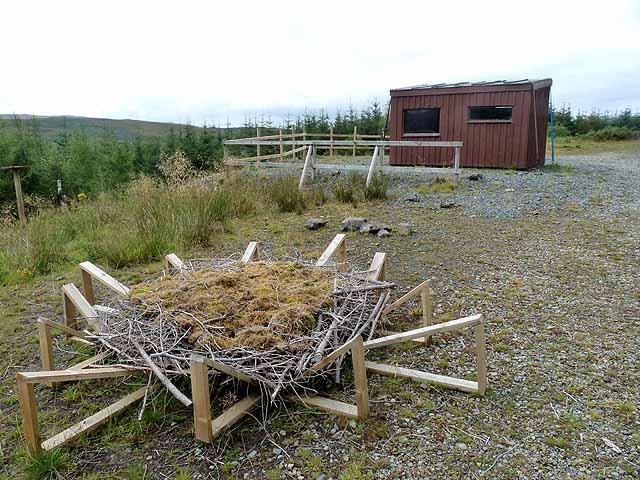 Bird hide above Loch Frisa