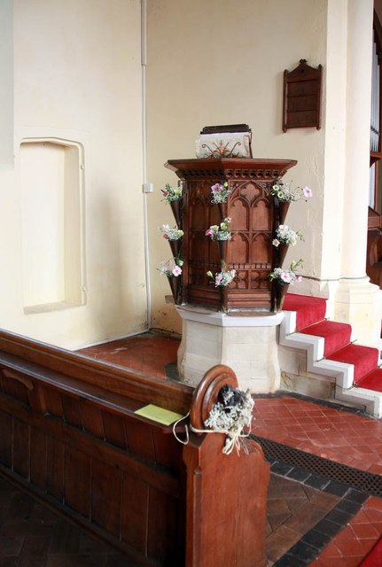 All Saints, Wood Norton - Pulpit