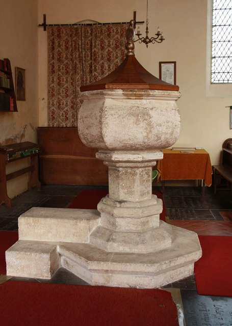 All Saints, Wood Norton - Font